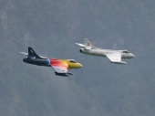 Hawker Hunter T Mk.58 ex J-4104 und Papyrus Hunter ex J-4040
