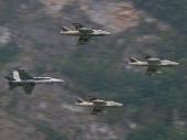 Hawker Hunter T Mk.68 mit Hornet F/A-18C