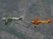 Boeing 76D Stearman HB-RBG und Bücker Jungmann 131