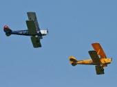 De Havilland DH-60 GIII Gipsy Moth HB-UPE und DH82A Tiger Moth HB-UPY