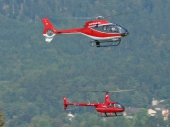 Eurocopter EC120 HB-ZGQ, Robinson R44 Raven HB-ZDW