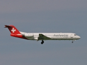 Helvetic Airways HB-JVC Fokker 100