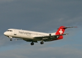 Helvetic Airways HB-JVG Fokker 100
