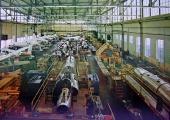 Montagehalle der Pilatus Flugzeugwerke ca. 1966/67